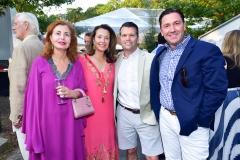 Sana Sabbhuh, Lisa McCarthy, Michael Breault, Gordon Hoppe==ARF's Bow Wow Meow Ball==ARF Adoption Center, Wainscott, NY==August 19, 2017==©Patrick McMullan==Photo - Sean Zanni/PMC====
