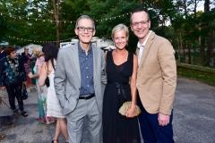 Mark Watson, Summer Louchheim, Scott Howe==ARF's Bow Wow Meow Ball==ARF Adoption Center, Wainscott, NY==August 19, 2017==©Patrick McMullan==Photo - Sean Zanni/PMC====