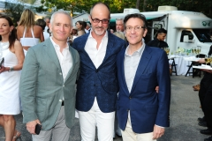 Roy Cohen, Arthur Dunnam, Benjamin Doller==Animal Rescue Fund of the Hamptons Bow Wow Meow Ball==ARF, Wainscott, NY==August 15, 2015==©Patrick McMullan==Photo - Owen Hoffmann/PatrickMcMullan.com====