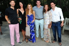 Collin Stewart, Sara Stewart, Sole Riley, Nick Riley, Katie Ryser, Fred Ryser==Animal Rescue Fund of the Hamptons Bow Wow Meow Ball==ARF, Wainscott, NY==August 15, 2015==©Patrick McMullan==Photo - Owen Hoffmann/PatrickMcMullan.com====