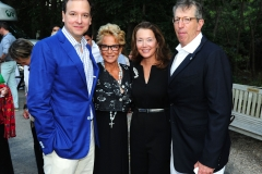 George Farias, Ophelia Rudin, Lisa McCarthy, William Rudin==Animal Rescue Fund of the Hamptons Bow Wow Meow Ball==ARF, Wainscott, NY==August 15, 2015==©Patrick McMullan==Photo - Owen Hoffmann/PatrickMcMullan.com====