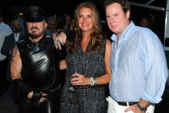 Peter Marino, Brooke Shields, Chris Henchy==Animal Rescue Fund of the Hamptons Bow Wow Meow Ball==ARF, Wainscott, NY==August 15, 2015==©Patrick McMullan==Photo - Owen Hoffmann/PatrickMcMullan.com====