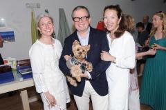 Tina Alano, Alex Papachristidis, Lisa McCarthy==Animal Rescue Fund (ARF) Designer Showhouse==ARF Thriftshop, NY==May 30, 2015==©Patrick McMullan==Photo - Owen Hoffmann/PatrickMcMullan.com====