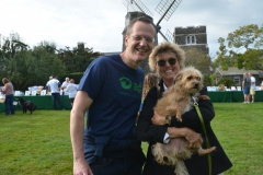 ARF Executive Director Scott Howe with Edwina von Gal and Clover.