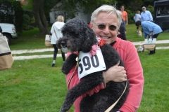 Event sponsor Alan Court with his dog Sydney.