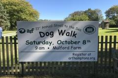 Dog walk sign