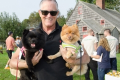 Joe Deppe with his dogs Delta and Jet.