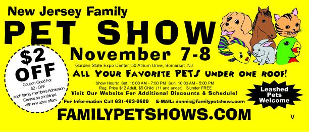 New Jersey Pet Expo coupon