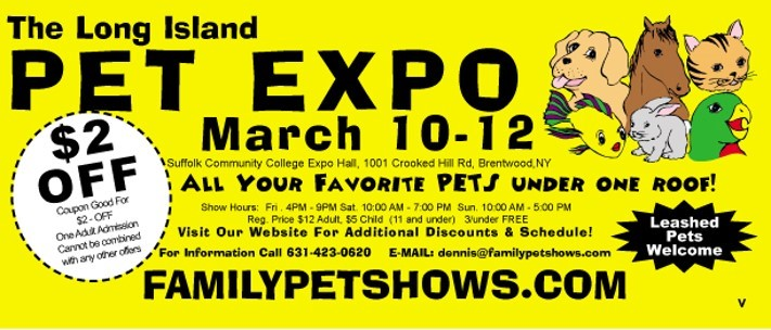 LI Pet Expo coupon